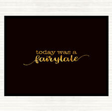 Black Gold Today Fairytail Quote Mouse Mat Pad