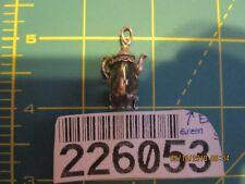 Vintage Teapot Sterling Silver Bracelet Charm citrine Crystal
