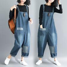 225d654c795 Womens Oversized Suspender Pants Jumpsuit Jeans Bib Overalls Baggy Romper  Casual