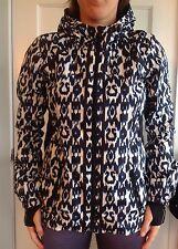 Lululemon Size 4 IKAT Jacket Downtime Black Blue White Hoodie EUC Coat Run Rare