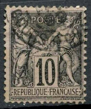 France 1898-1900 SG#284, 10c Black/Lilac Type II Used #D50493