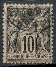 FRANCIA 1898-1900 SG#284, 10c Nero/Lilla tipo II USATO #D50493