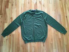 J Crew Men's L 100% Merino Wool V-Neck Sweater - Green