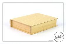 Plain in Legno Scatola portagioie Storage LIBRO 21 x 16.5 x 4.5 cm DECOUPAGE ARTE Craft