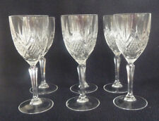 Boxed Set SIX  Wine Glasses Thomas Webb International Crystal Glass