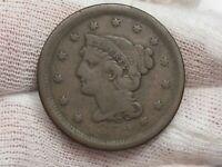1852 Large Cent - weak.  #31
