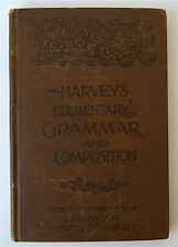 1880 Harvey's Language Course Elementary Grammar And Composition Thos Harvey