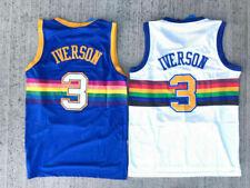 Hardwood Classics Allen Iverson 3 Denver Nuggets Throwback Blue/White Men Jersey