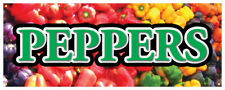 Bell Peppers Banner Fresh Vegetable Organic Green Concession Stand Sign 36x96