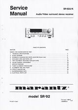 Service Manual-Anleitung für Marantz SR-92