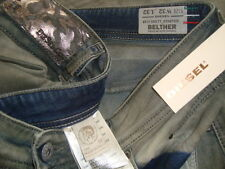 NWT$348 DIESEL BELTHER DNA Made in ITALY Slim Fit  Men's Jeans W-0827T Sz 32x32