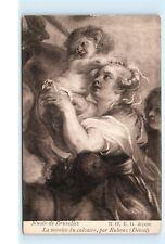 *Musee de Bruxelles La montee du calvaire par Rubens Vintage Postcard C35