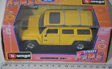 13 ) Bburago Burago Street Fire 1:32 Hummer H3 - Gelb
