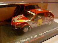 RES8 voiture 1/43 IXO altaya SEAT de Rallye : IBIZA Bimotor proto PHILIPS 1988