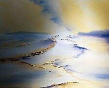 Original elizabeth williams ancien harrys Branksome beach poole dorset peinture à l'huile
