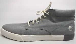 Timberland Size 12 Gray Canvas Sneakers Chukka New Mens Shoes