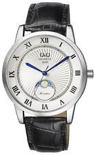 Q&Q by Citizen Herren Armbanduhr Uhr Watch 40 mm 5 ATM Mondphase QZ10J307 Moon