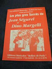 Partition Les plus gros succès Jean Ségurel Dino Margelli Music Sheet