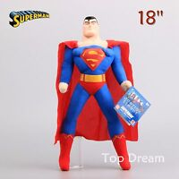 DC Hero Superman Plush Toy Soft Stuffed Animal Doll 18'' Figure Kids Xmas Gift