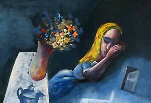 """CHARLES BLACKMAN """"Dreaming Alice"""" Signed, Limited Edition Print 66cm x 97cm"""