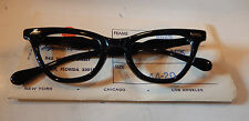 Vintage Imperial Optical 2625 Black 44/20 Cateye Eyeglass Frame New Old Stock
