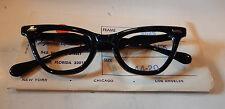 Vintage Imperial Optical 2625 Black 44/20 Cateye Eyeglass Frame New Old Stock