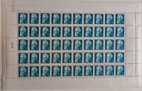 CW143381 / FRANCE / Y&T # 820 / 821 COMPLETE SHEET MNH**