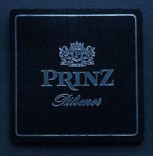 Glasuntersetzer Leder 9 x 9 cm - Prinz Pilsener - Bierdeckel Flaschenuntersetzer