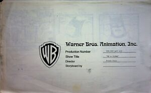 Batman The Animated Series BE A CLOWN Storyboard Copy 1991 104 pgs ACT III #SL