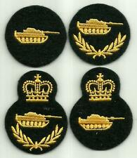 Canadian Army Armoured Group 1 to 4 Trades Badges