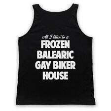 FROZEN BALEARIC GAY BIKER HOUSE NICHE DANCE MUSIC UNISEX TANK TOP VEST