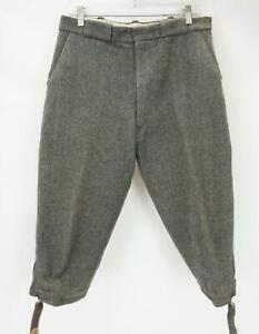 VTG Clarke's Craghoppers Tweed Cord Pants Made in England Gray Men's Waist 32