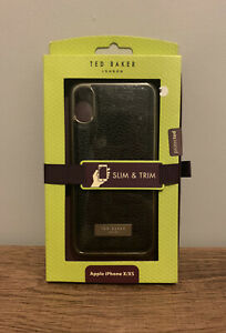 TED BAKER BLACK GOLD IPHONE X & XS CLIP ON CASE COVER BRAND NEW
