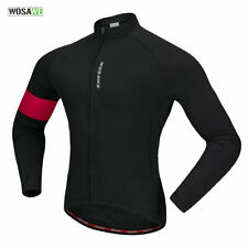 Winter Cycling Jersey Thermal Fleece Bike Jacket Coat MTB Road Bicycle Mens Tops