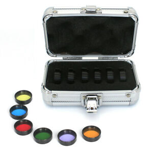 Astronomical Telescope Optical Filters 6pcs Color with Aluminum Storage Box