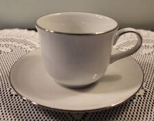 "Royal Doulton 2-7/8"" Cup & Saucer Set Simply Platinum Pattern"