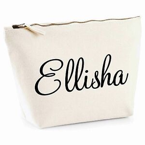 Personalised Make Up Wash Bag Toiletry Canvas Birthday Christmas Gift Present