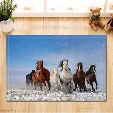 Door Mat Bathroom Rug Bedroom Carpet Bath Mats Horse running in the snow 40*60cm