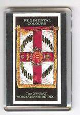 2nd Bn WORCESTERSHIRE REGIMENT REGIMENTAL COLOURS FRIDGE MAGNET