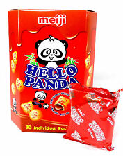 Meiji Hello Panda Biscuits w Chocolate Cream Filling Japanese Cookie Snack 9.1oz