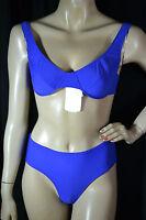 BOTTO MARE edler klassischer Bügel Bikini swimwear blau M 40 neu 169€ brand new
