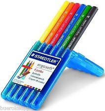 STAEDTLER Farbstift ergo soft jumbo Buntstift dreieckig 6er Box 158SB6 NEU&OVP