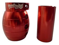 RED GRENADE OVERSIZED 35MM 32MM STUNT SCOOTER CLAMP TEAM DOGZ PRO  WITH SHIM