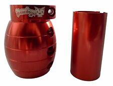 RED GRENADE OVERSIZED 35MM 32MM CLAMP TEAM DOGZ PRO STUNT SCOOTER WITH SHIM