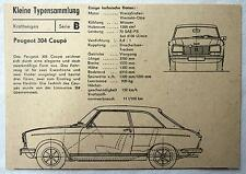 DDR Kleine Typensammlung Kraftwagen - Peugeot 304 Coupé