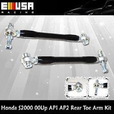 Rear Toe Arm Kit Adjustable Black for 00-09 Honda S2000  S2K Ap1 Ap2