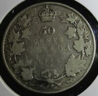 1916 Canada 50 cent coin is 92.5% silver the EXACT COIN lot #502 will be sent