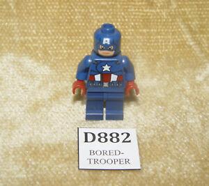 LEGO Minifigs: Super Heroes: Avengers sh014 Captain America Dark Blue Suit 6865