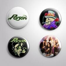 "4 POISON - Pinbacks Badges Buttons 1"" 25mm"
