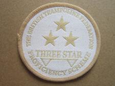 British Trampoline Federation 3 Star Proficiency Sport Woven Cloth Patch Badge